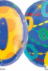 """Mylar 0 Multi Colour 18"""" Balloon"""