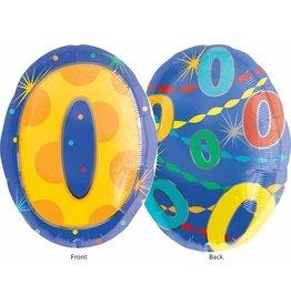 "#0 Multicolour Shape 18"" Mylar Balloon"