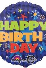 "Mylar Bold Birthday 18"" Balloon"