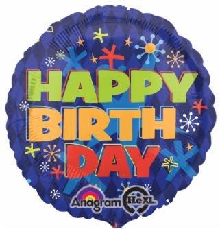 "Bold Birthday 18"" Mylar Balloon"