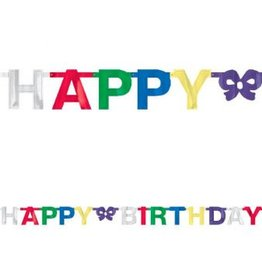 Banner Birthday Small Foil Multicolour