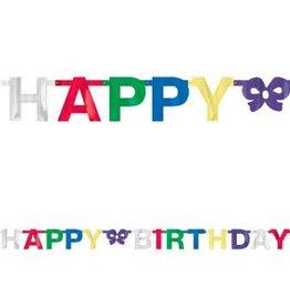Banner Birthday Small Foil Multicolour