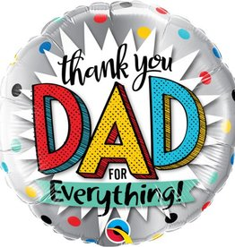 """Thank You Dad For Everything 18"""" Mylar Balloon"""