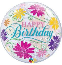 """Birthday Flowers Filigre 22"""" Bubble Balloon"""
