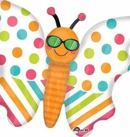 """Butterfly Fun in The Sun 30"""" Mylar Balloon"""
