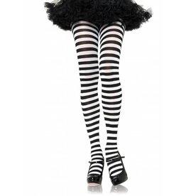 Black & White Striped Pantyhose