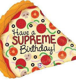 Birthday Pizza Mylar Balloon