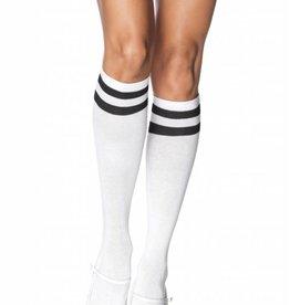 Black & White Athletic Knee High Socks