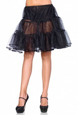 Black Shimmer Knee Length Petticoat Skirt