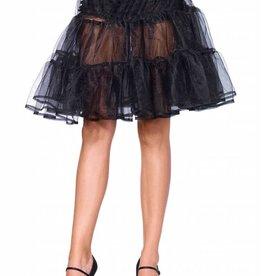 Black Shimmer Knee Length Petticoat Skirt