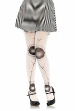 Cracked Doll Joint Pantyhose