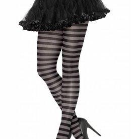 Black & Grey Striped Pantyhose