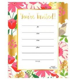 Golden Florals Invitations (20)
