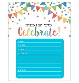 Pennant Party Invitations, Value Pack (20)
