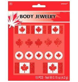 Canada Day Body Jewelry