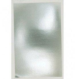 Metallic Silver Soild Gift Wrap