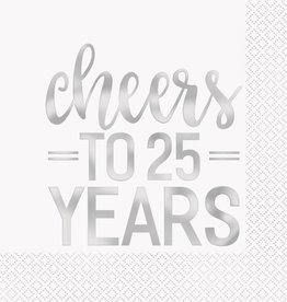 Cheers to 25 Years Lunch Napkins (16)