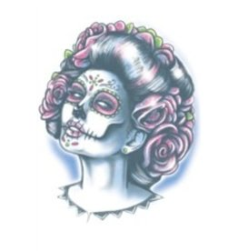 Day Of The Dead Temporary Tattoo Senora Muerte