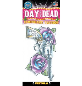 Day Of The Dead Temporary Tattoo Pistola