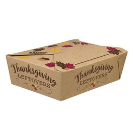 Thanksgiving Foldable To Go Paper Boxes
