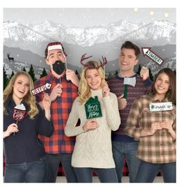 Cozy Christmas Scene Setter With Photo Props