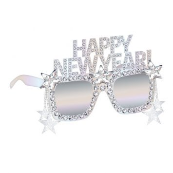 Disco Ball Drop Happy New Year Glasses