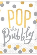Pop the Bubbly Beverage Napkins (16)