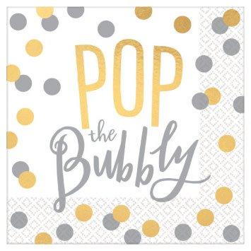 Pop the Bubbly Beverage Napkins (16)