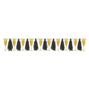 Champagne Tassels Banner