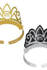 New Year's Tiaras - Black, Silver, Gold (6)