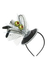 Martini Deluxe Headband - Black and Silver