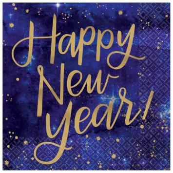 Midnight New Year's Eve Beverage Napkins (16)