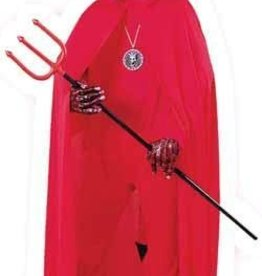 """68"""" Red Hooded Cape"""