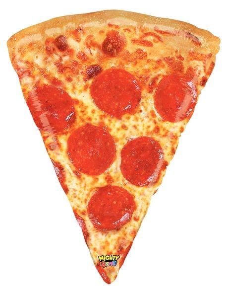 "Pizza Slice Mighty Bright 34"" Mylar Balloon"