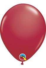 "11"" Maroon Qualatex Latex Balloon 1 Dozen Flat"