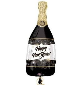 "New Years Champagne  Bottle 36"" Mylar Balloon"