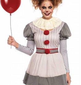 Womens Costume Creepy Clown XL