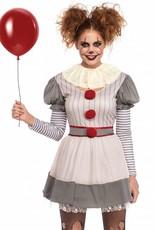 Womens Costume Creepy Clown M/L