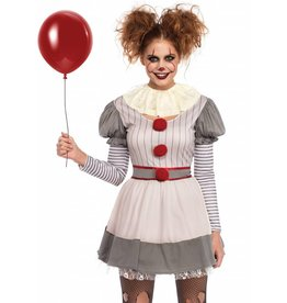 Womens Costume Creepy Clown M/L