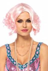 Pastel Pink Curly Bob Wig