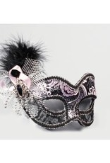 Venetian Showgirl Silver Eye Mask