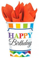 Bright Birthday 9oz Cups (8)