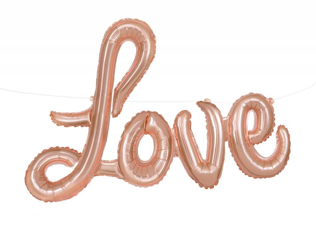 "Rose Gold ""Love"" Script Air-Filled Balloon"