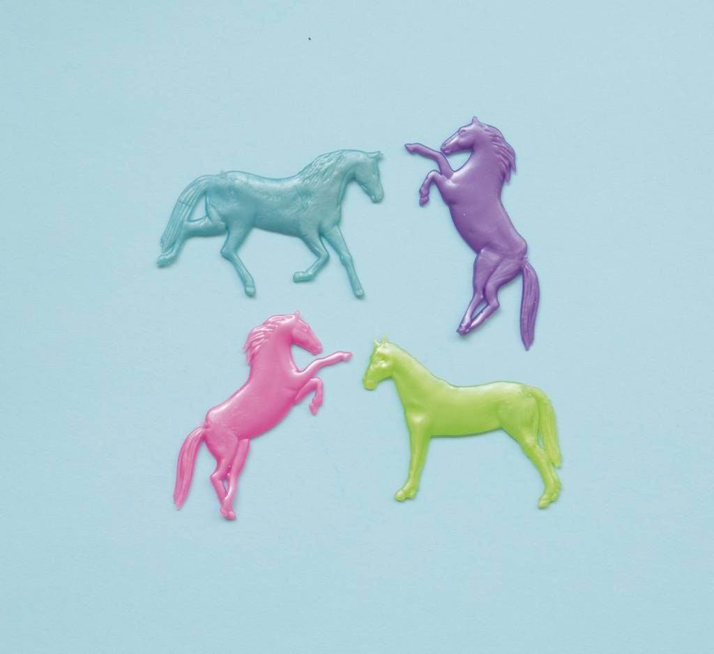 Pearlized Stretchy Horses (8)