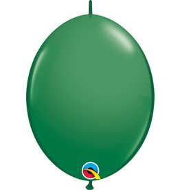 "12"" Green Linking Balloons 1 Dozen Flat"