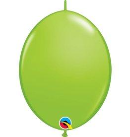 "12"" Lime Green Linking Balloons 1 Dozen Flat"