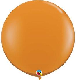 "36"" Balloon Mandarin Orange Flat"