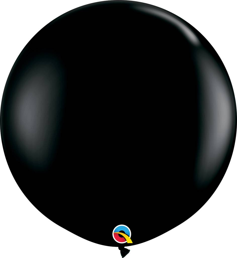 "36"" Balloon Onyx Black Flat"