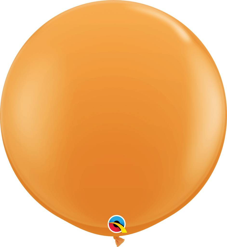 "36"" Balloon Orange Flat"