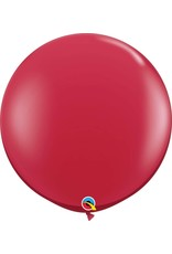 "36"" Balloon Ruby Red Flat"
